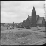 7789 Wegwerkzaamheden in centrum van Barendrecht bij de Bethelkerk.