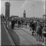 782-1 Thuiskomst te Hoek van Holland van de deelnemers aan de jamboree