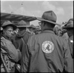 782-2 Thuiskomst te Hoek van Holland van de deelnemers aan de National Jamboree Valley Forge 1957.