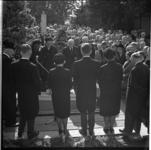8106 Begrafenis J. Groenewegen, algemeen directeur van de dagbladcombinatie Het Kwartet. (De Rotterdammer, Nieuwe ...