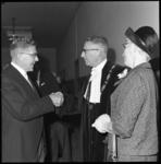 8253 Overdracht van rectoraat prof.dr. H.J. Kuhlmeijer aan prof. ir. T.J. Bezemer aan de NEH; burgemeester W. Thomassen ...