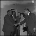 8478 Bezoek minister-president J.P. Pengel van Suriname, hier in Hilton Hotel.