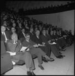 8705-2 Openingsbijeenkomst van de Medische Faculteit in De Doelen met links commissaris der Koningin in Zuid Holland, ...