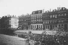 1976-2573 Gezicht op de oostzijde van de Spoorsingel, ter hoogte van de hoek Jacob Loisstraat.