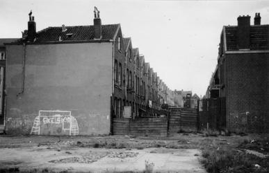 1976-2644 Gezicht op woningen van Paulus Potterstraat ( links ) en Oostmaasstraat ( rechts ).
