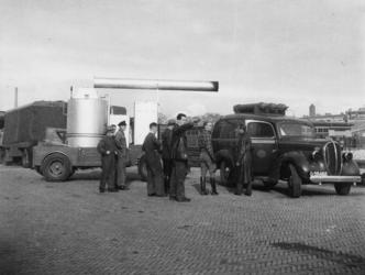 1977-3100 Het vervoer van de inrichting voor het bereiden van het voedsel voor de centrale keuken.