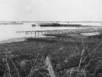 1977-3220 Inundaties bij Schiebroekse polder, als gevolg van een Duitse verdedingsmaatregelen.