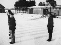 1977-3360 Tijdens de Bezetting. In een werkkamp. Georganiseerd door de Nederlandsche Arbeidsdienst.