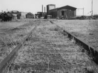 1977-3512 Een verlaten spoorwegemplacement tijdens de spoorwegstaking.