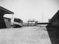 1977-3513 Een verlaten spoorwegemplacement tijdens de spoorwegstaking.