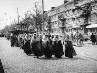1977-3592 Herdenking van de bevrijding in 1945. Historiese optocht Recht zo die gaat .