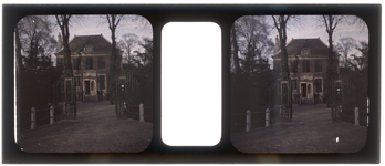 26-22-48 Stereofoto, autochroom, van Huis Schoonoord van de familie Stahl - Van Hoboken aan de Parklaan.