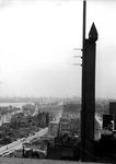 1980-5069 Gezicht vanaf het Erasmushuis op de door het Duitse bombardement van 14 mei 1940 getroffen omgeving van de ...