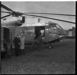 513-03 De eerste vrachthelikopter van Sabena, de Super Frelon met code F-ZWWH03, staat op het terrein van Heliport.
