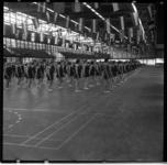 72-01 Gymnastiek voor vrouwen in de Ahoy'-hallen aan de Wytemaweg.