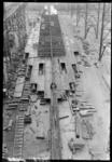 11053 Het passagiersschip de s.s. Nieuw Amsterdam (RDM-200) voor de Holland Amerika Lijn (HAL) in aanbouw bij de ...