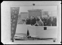 RDM-11204 De doop en tewaterlating van het SS Nieuw Amsterdam (2) van de Rotterdamsche Droogdok Maatschappij (RDM) door ...