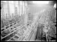 RDM-8281 Onderzeeboot Hr. Ms 'K XIV' (RDM-168) in aanbouw in de Onderzeebootloods van de Rotterdamsche Droogdok ...