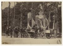 1970-1566 Optocht ter gelegenheid van het bezoek van Koning Willem III aan Rotterdam. Op de koets staat: 1849 Hulde aan ...