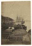 1970-205 Gezicht op de Boompjes vanuit het westen, met zicht op enkele schepen.
