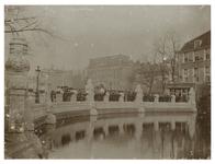 1976-196 Hardstenen balustrade, in 1903 vervaardigd als afsluiting van de Schiedamsesingel(gracht) na de demping van ...