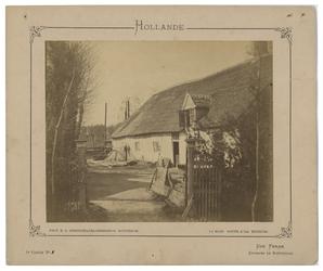1991-2379 Boerderij in Kralingen. Op het inrijhek de naam 'Boezem'