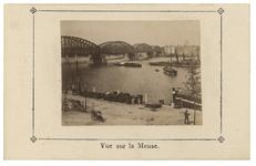 IV-27-12 Zicht vanaf de Maaskade op de bruggen over de Nieuwe Maas uit het zuiden.