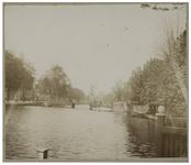 VIII-147 Zicht op de Schiedamsesingel met op de achtergrond een molen.