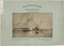 XV-34 Droogdok in de Dokhaven, met aan de rechterkant een groot schip in het water.