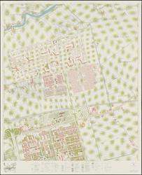 1968-1365 Kaart van Rotterdam en omgeving; bestaande uit 24 bladen. Blad 6: Ommoord en het Lage Land.