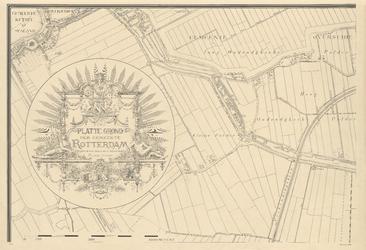 1970-2675 Plattegrond van Rotterdam. Blad 1: het afgebeelde gebied omvat in hoofdzaak de gemeente Overschie