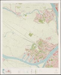 1974-995 Topografische kaart van Rotterdam en omstreken | bestaande uit 31 bladen. Blad 14a: Zwijndrecht en ...
