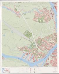 1975-1234 Topografische kaart van Rotterdam en omstreken | bestaande uit 32 bladen. Blad 14a: Zwijndrecht en ...