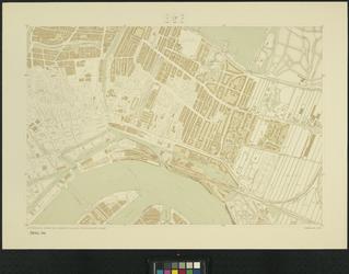 1975-1258 Plattegrond van Rotterdam en omgeving bestaande uit 36 bladen. Blad 17: Rotterdam-Centrum en Kralingen.