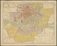 1979-2115 Plattegrond van Rotterdam met de ontworpen uitbreidingsplannen.