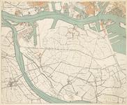 1988-901 Kaart van Rotterdam en omgeving in 4 bladen: blad 3, linksonder: Nieuwe Maas, Vlaardingen (deels), Schiedam ...