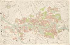1991-3386 Plattegrond van Rotterdam en omgeving, met aanduiding van de gemeentegrenzen, de bebouwde omgeving en de ...