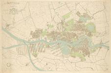 2006-1213 Plattegrond van Rotterdam en omgeving, met aanduiding van gemeentegrenzen, bebouwde omgeving en haven- en ...