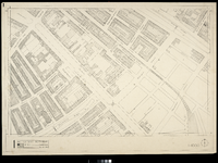 2006-886-1 Kaart van het verwoeste gebied in het centrum van Rotterdam, blad 1: omgeving Provenierssingel / Schiekade / ...