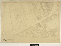 2006-886-17A Kaart van het verwoeste gebied in het centrum van Rotterdam, blad 17: omgeving Westzeedijk, Scheeptimmermanslaan