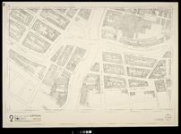2006-886-2 Kaart van het verwoeste gebied in het centrum van Rotterdam, blad 2: omgeving Noordplein en Rotte