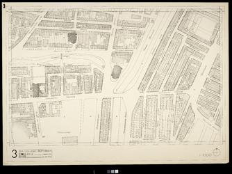 2006-886-3 Kaart van het verwoeste gebied in het centrum van Rotterdam, blad 3: omgeving Boerzemsingel, Hoge Boezem, ...