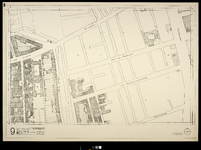 2006-886-9 Kaart van het verwoeste gebied in het centrum van Rotterdam, blad 9: omgeving Aert van Nesstraat, Kruiskade, ...