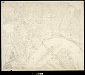 2006-887 Kaart van het verwoeste gebied in het centrum van Rotterdam met een schema van de bladindeling van de bladen ...
