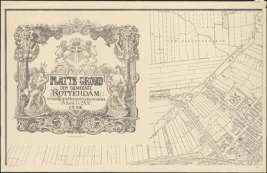 I-105-1 Plattegrond van Rotterdam. Blad 1: het afgebeelde gebied omvat een deel de gemeente Overschie, een deel van de ...