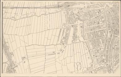 I-105-2 Plattegrond van Rotterdam. Blad 2: het afgebeelde gebied omvat de Blijdorpse polder, Beukelsdijk, de Coolsche ...