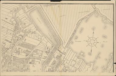 I-105-4 Plattegrond van Rotterdam. Blad 4: het afgebeelde gebied omvat: een deel van de stadsdriehoek, de Nieuwe Maas, ...