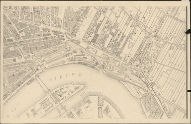I-105-5 Plattegrond van Rotterdam. Blad 5: het afgebeelde gebied omvat Feijenoord, de Nieuwe Maas en het terrein van ...