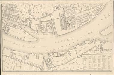 I-114-3 Plattegrond van Rotterdam. Blad 3: het afgebeelde gebied omvat: Delfshaven, Charlois, Katendrecht en het Nieuwe Werk