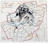 I-115 Plattegrond van Rotterdam. Het afgebeelde gebied wordt begrensd door Courzand (Heijplaat), de Coolsche Polder, de ...